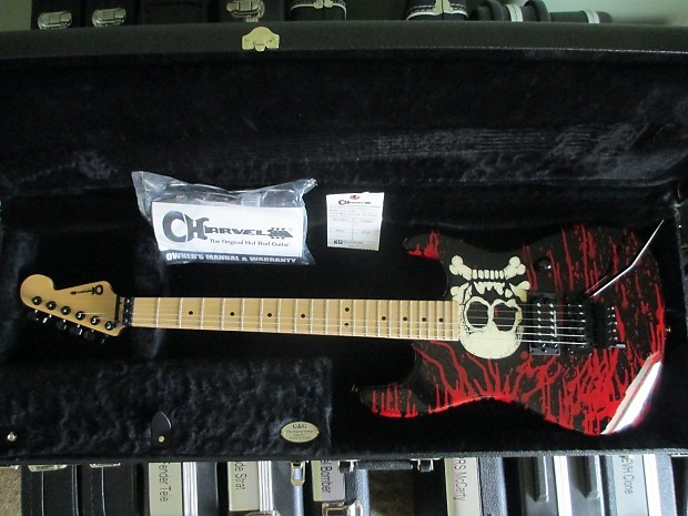 2007 Charvel Warren Demartini Blood And Skull Guitar Reverb