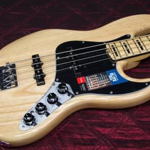 New Fender American Elite Jazz Bass Natural Authorized Dealer Warranty OHSC for sale