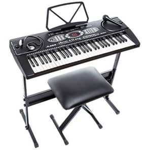 Alesis Meldoy 61 Portable 6-Key Digital Keyboard Pack w/ Stand, Bench, Accessories