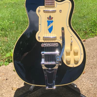 Kay Kay K161VBK Reissue Thin Twin Electric Guitar Black for sale