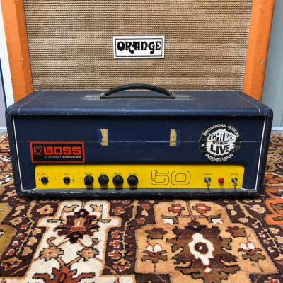 Vintage 1970s Carlsbro 50 Top 50w Custom Colour Blue Amplifier Amp Head for sale