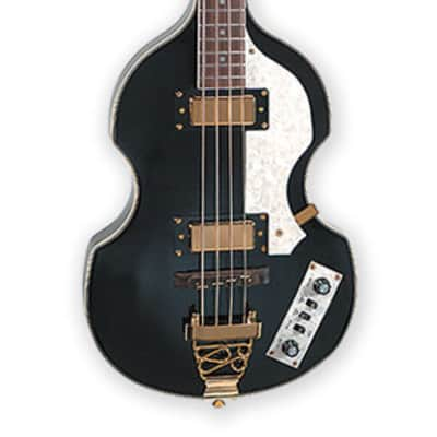 Jay Turser JTB-2B-BK Series Semi-Hollow Violin Shaped Body Electric Bass Guitar - Black for sale
