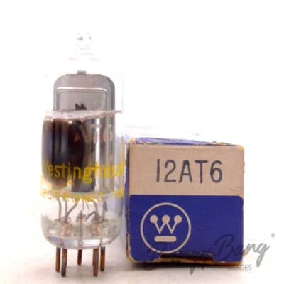 Westinghouse 12AT6/HBC90/12DT1 Double Diode Triode Audio Frequency Valve- BangyBang Tubes
