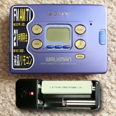 SONY WM-FX822 Walkman Cassette Player, Excellent PURPLE ! Working !