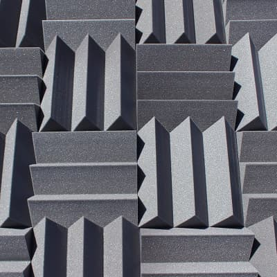 Acoustic Foam Panels - Bulk 4 Inch Thick Studio Foam Tiles - Charcoal Color - 48 Square Feet