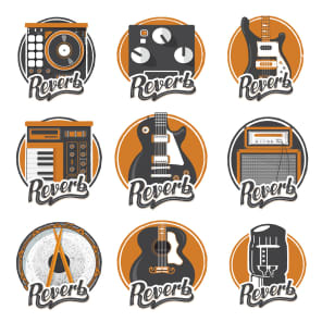 Reverb Sticker Pack