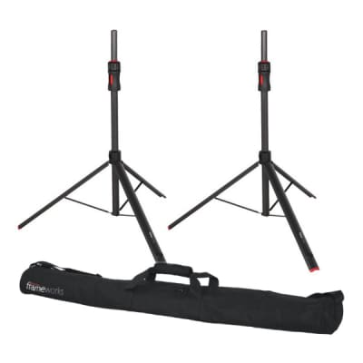 Gator GFW-ID-SPKRSET Air lift Speaker Stands - PAIR