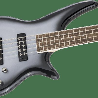 NEW! Jackson JS Series Spectra Bass JS3V 5-String Laurel Fingerboard Silverburst Authorized Dealer