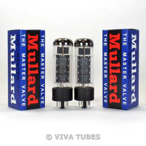Brand New Plate Current Matched Pair (2) Reissue Mullard EL34 6CA7 Vacuum Tubes
