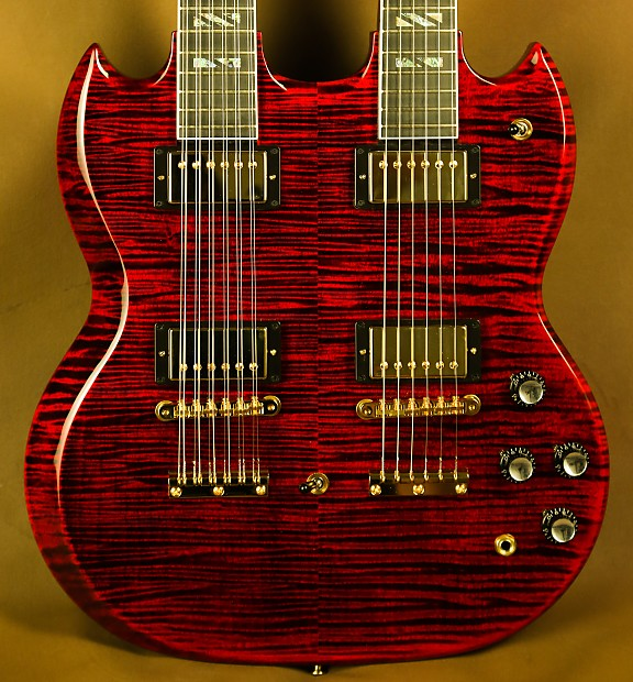 Gibson Eds 1275 Supreme Ultra Flamed Maple Double Neck Sg