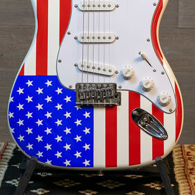 Main Street American Flag Strat-Style Electric Guitar for sale