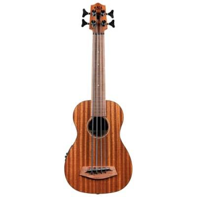 Kala Rumbler U-Bass Mahogany Acoustic-Electric Ukulele Bass Frettless + Gig Bag