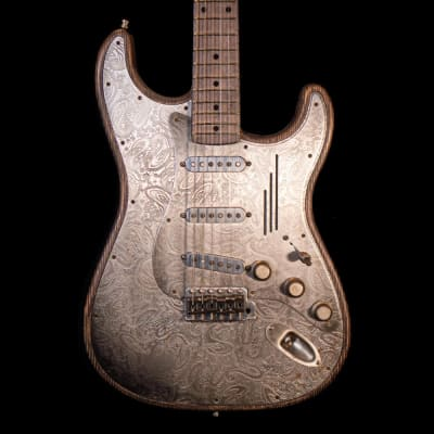 James Trussart 2017 Steel-O-Matic Electric Guitar in Antique Silver for sale