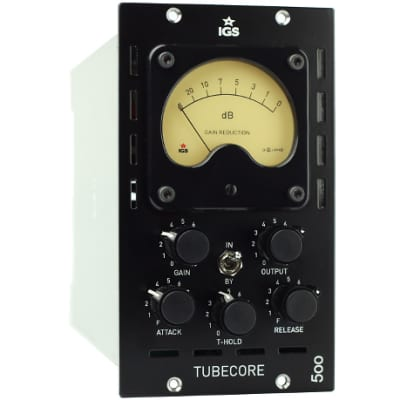 IGS Audio Tubecore 500 (Black) 500 Series Vari-Mu Mono Tube Compressor | Atlas Pro Audio
