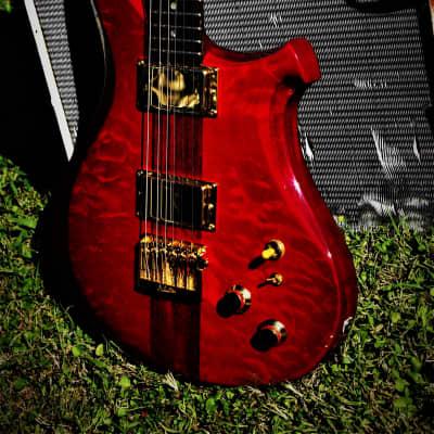 C.P. Thornton Custom 1989 Red Transparent. Handmade.  Very rare.  Boutique.  #8 of 14 made VERY RARE for sale