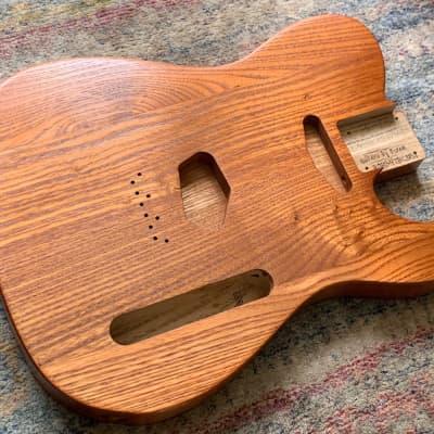 Buren's Very Light '52 Style Catalpa Tele Body (Woodtech, USA) in Brownish Orange Truoil Finish