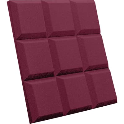 "Auralex SonoFlat Soundproofing Panels (2""x24""x24"") - Pack of 16 Burgundy"