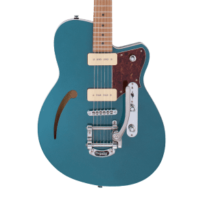 Reverend Club King 290 with Roasted Maple Neck and Bigsby Deep Sea Blue