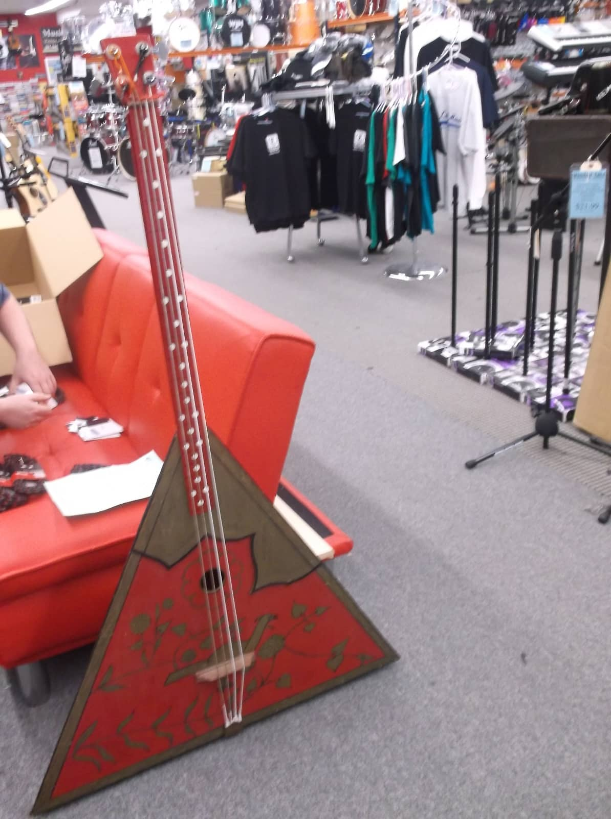 home made balalaika bass 4 string red reverb. Black Bedroom Furniture Sets. Home Design Ideas