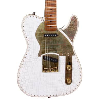 Paoletti Guitars Nancy White Leather Top for sale