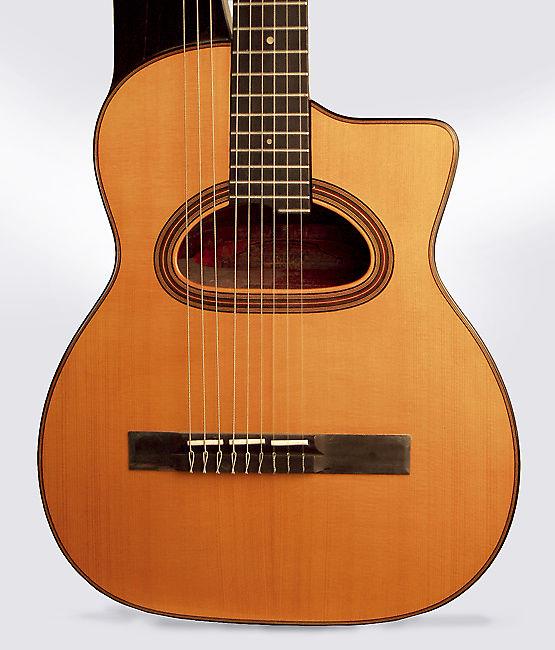Selmer  Maccaferri Concert Harp Guitar (1932), ser. #275, original brown hard shell case.