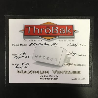 ThroBak ER Custom Nickel PAF Pickup Set