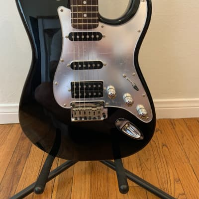 Black and Chrome Standard Squier Fat Stratocaster HSS