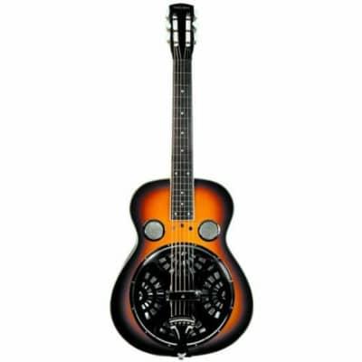 Trinity River RSN1AS Mudslide Square Neck Resonator Guitar with Hardshell Case, Tobacco Sunburst for sale