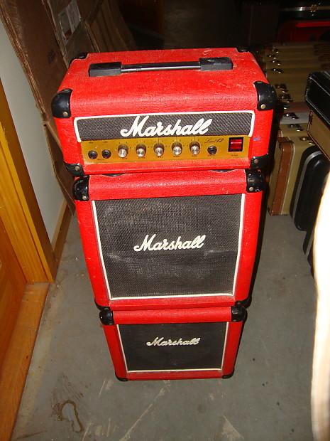 1989 marshall mini stack 3005 amp lead 12 red tolex solid reverb. Black Bedroom Furniture Sets. Home Design Ideas