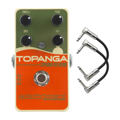 Catalinbread Topanga Spring Reverb Guitar Effects Pedal with Patch Cables
