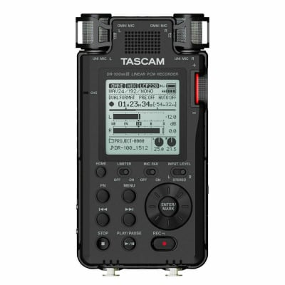 Tascam DR-100 MKIII MK3 Portable Linear PCM Handheld Stereo Audio Recorder DR100