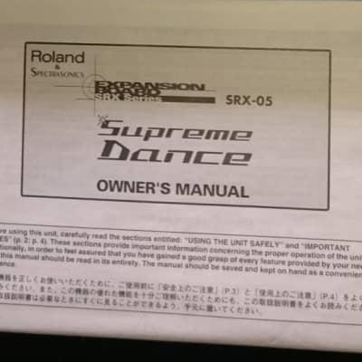Notice Roland SRX-05 Supreme Dance (Manual)