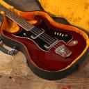 1960's Hagstrom H8 Bass Cherry Red
