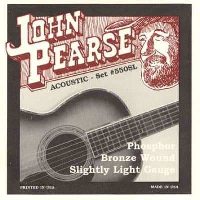 John Pearse 550SL Slightly Light Phosphor Bronze Acoustic Strings