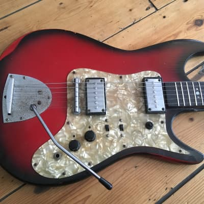 1960s Airstream 2 By Rosetti Electric Guitar Made in Holland Egmond for sale