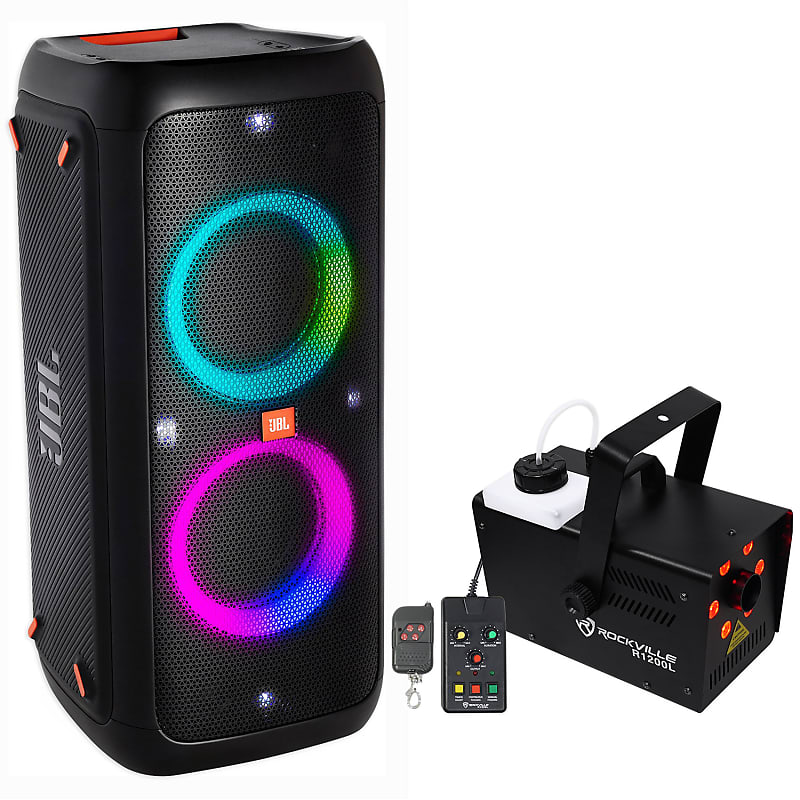 JBL Partybox 300 Portable Rechargeable Bluetooth Party Speaker+LED Fog  Machine