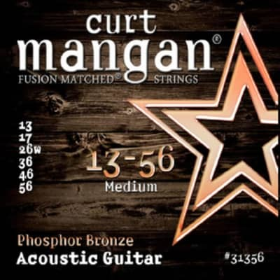 NEW Curt Mangan Phosphor Bronze Acoustic Strings - Medium - .013-.056