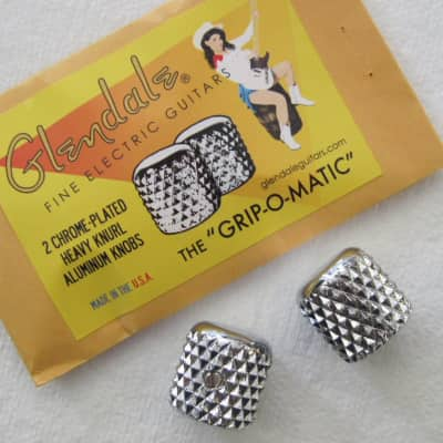 Glendale Grip-O-Matic Heavy Knurl Chrome Plated Aluminum Telecaster Knobs image