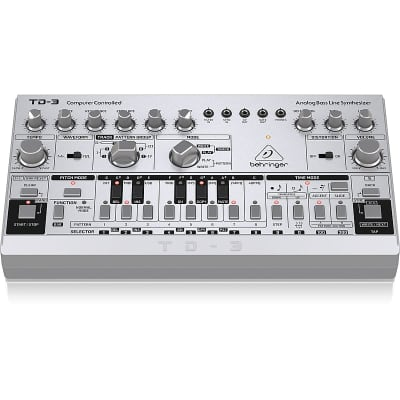 Behringer TD-3-SR Analog Bass Line Synthesizer with VCO, VCF, 16-Step Sequencer (Pre-Order)