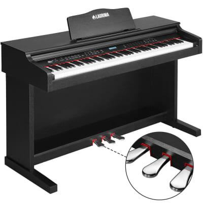 LAGRIMA 88 Key LCD Digital Electric Piano Keyboard 3 Pedal Board Cover Adaptor Black