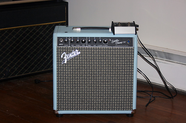 fender super champ x2 with custom crustycabs 1x12 cabinet and reverb. Black Bedroom Furniture Sets. Home Design Ideas
