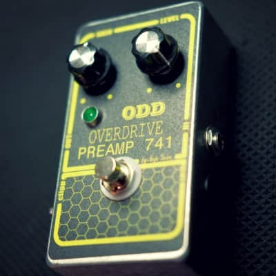 Odd Overdrive Preamp 741 Effect Pedal with boost function ( vintage gray dod 250 clone )mp 741