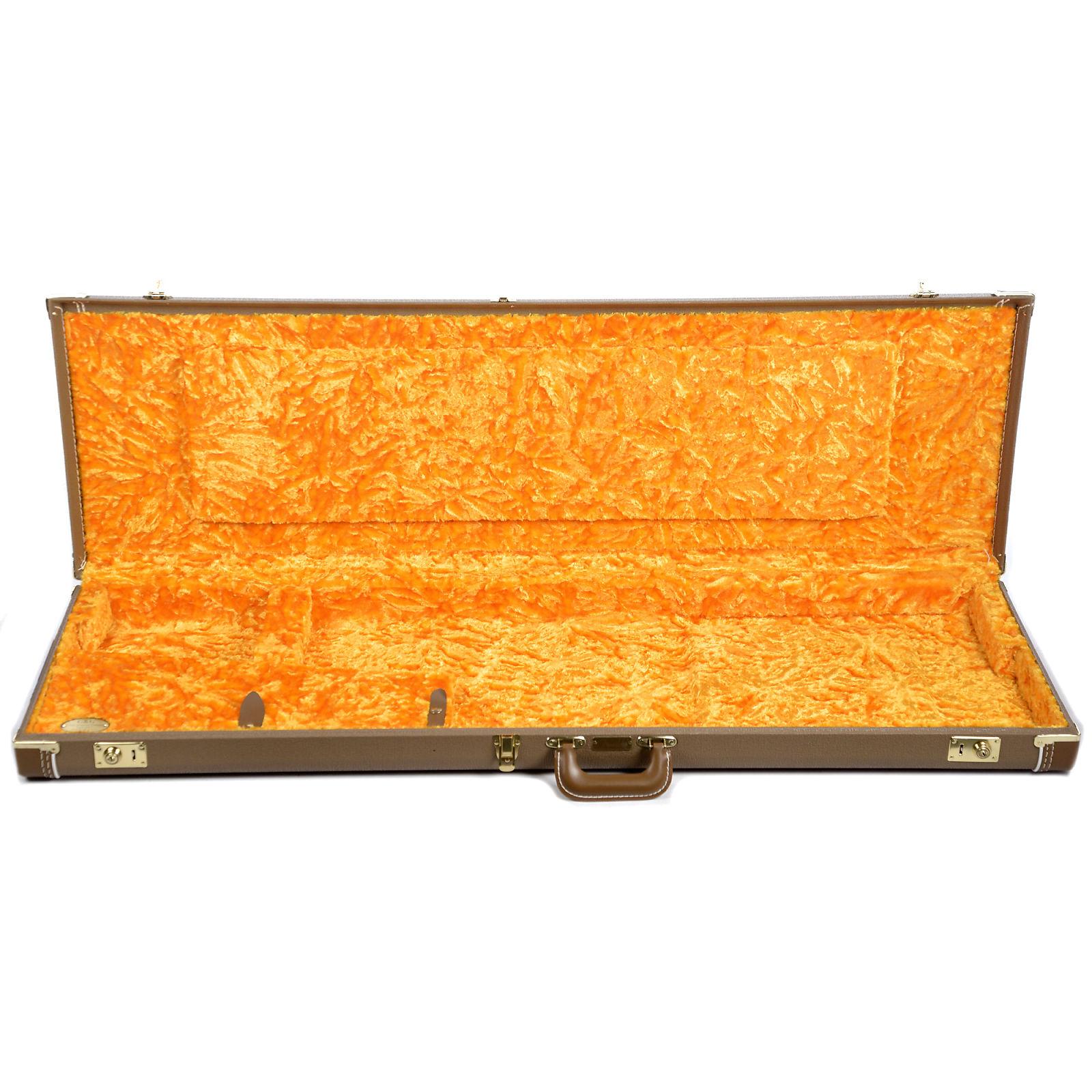 81177b0d46 Fender G&G Jazz Bass Tan/Orange Hardshell Case