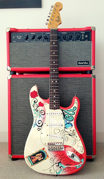 1997 fender jimi hendrix monterey pop strat 67 reverb. Black Bedroom Furniture Sets. Home Design Ideas