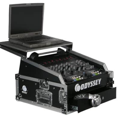 Odyssey Cases FZGS1002 Flight Zone 10u Top Slant x 2u Vertical Glide Style Slanted Combo Rack Case