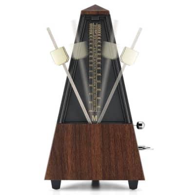 Mechanical Metronome, Wood Toned Metronome For Piano Guitar Ukulele Drum Violin Cello Trumpet