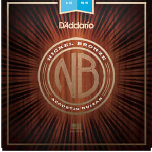 D'Addario Acoustic Guitar Strings Nickel Bronze Medium 12-53