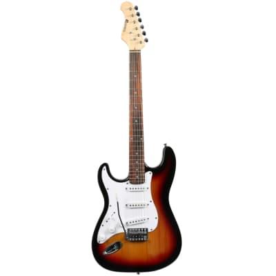 Dimavery ST-203 LH SB ST-203 Linkshänder-E-Gitarre, sunburst for sale