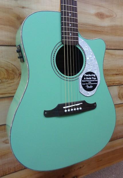 new fender sonoran sce acoustic electric guitar surf green reverb. Black Bedroom Furniture Sets. Home Design Ideas