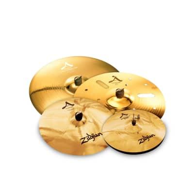 Zildjian A Custom Gospel Cymbal Pack - 14/17/18/21 -AC0801G - 642388316795 - Brilliant/Traditional